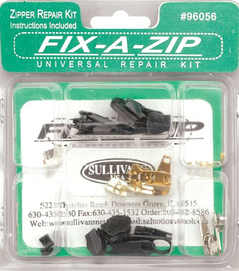 Fix A Zipper Replacement Repair Kit 6 In 1 Resleting Fix quilts jo