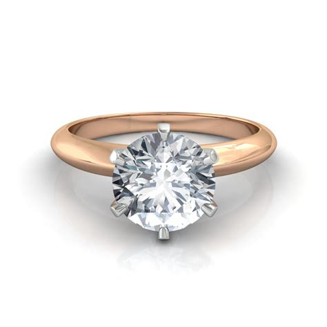 Ring With Diamonds Around It by Brilliant Cut Solitaire Engagement Ring