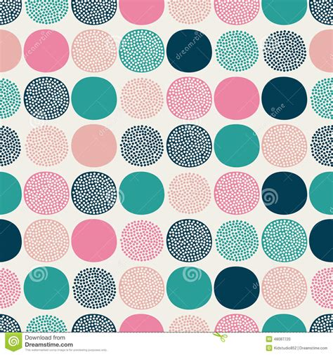 doodle dots seamless doodle dots pattern stock photo image 48087720