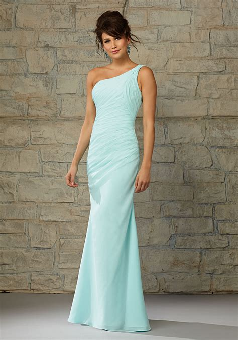 Madeline Pastel Dress length luxe chiffon one shoulder morilee bridesmaid