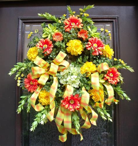spring wreath door wreaths outdoor wreath front by luxewreaths