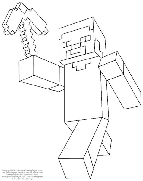 minecraft character drawing template minecraft coloring pages 21 free printable word pdf