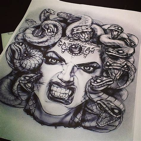 medusa tattoo flash project for next tattoo tattoo medus