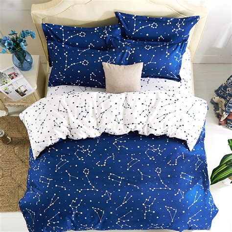 Size Comforter Set Boys Outer Space Theme Bedroom Blue Bedding Ebay Galaxy Beddig Sets Universe Outer Space Themed Galaxy Print Duvet Cover Set No Comforter