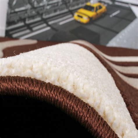 guide tappeti set tappeti guide motivo moderno a onde 3 pz marrone
