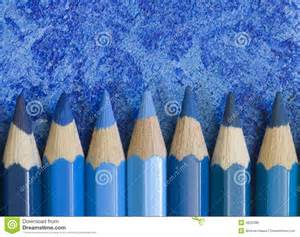 blue pencil crayons royalty free stock photos image 4625398