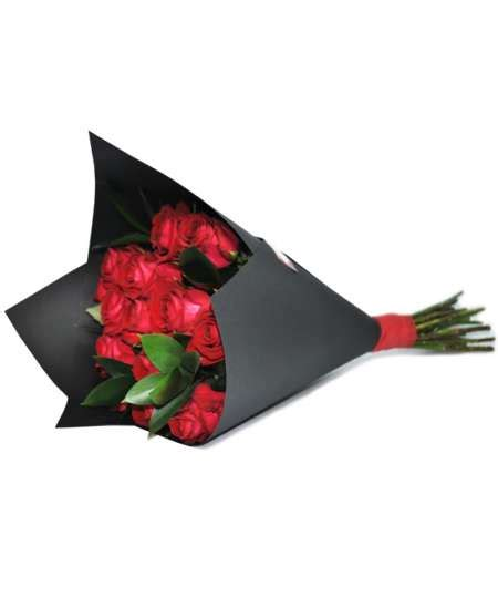 Black Craft Paper - bouquet of roses in black craft paper flowerscity 174