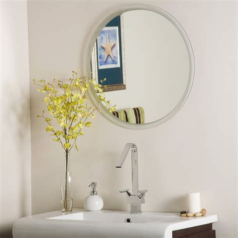 Beveled Bathroom Mirrors Frameless Home Design Ideas Frameless Mirror Bathroom