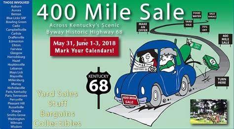 St Rt 127 Garage Sales by 400 Mile Sale Across Kentucky Along Historic Hwy 68