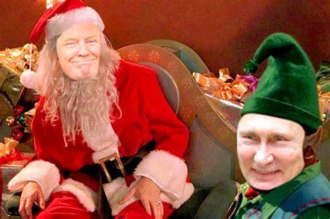 read vladimir putins christmas card  donald trump daily star