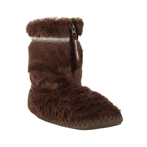 faux fur slipper boots bedroom athletics womens bridgette slipper boots faux fur