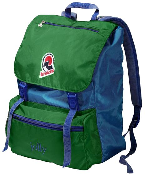 Vintage Retro Backpack Blue invicta jolly vintage backpack blue green