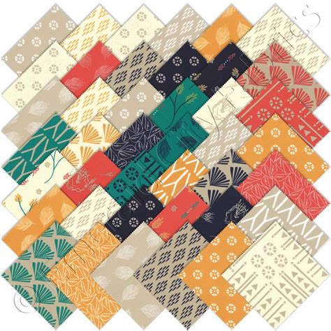 Quilting Fabric Charm Packs by Moda Valley Charm Pack Emerald City Fabrics