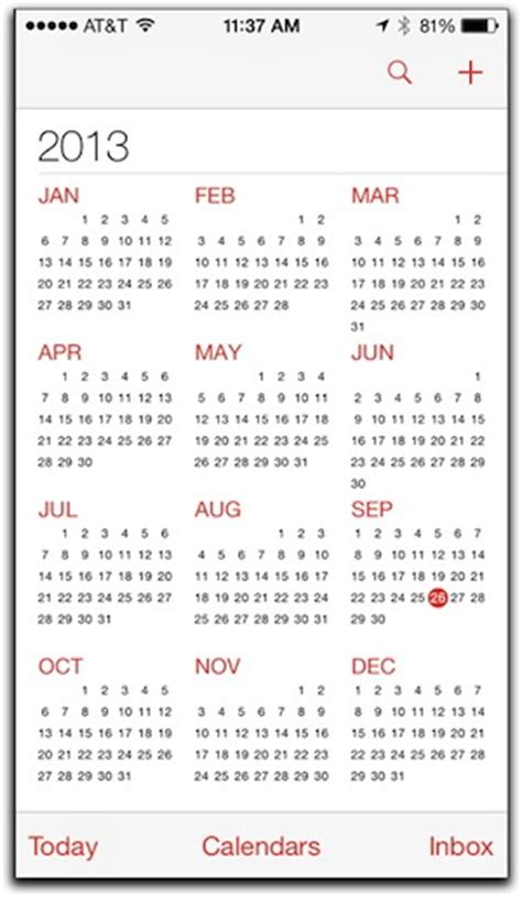 What Calendar Is On My Iphone 4 Tips For Using Ios 7 S Calendar On Your Iphone The Mac