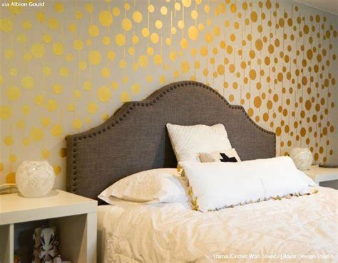 gold paint bedroom ideas gold wallpaper wall stencils diy ideas for metallic home