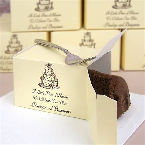 Wedding Cake Gift Boxes by 5 X 3 Large Personalized Cake Slice Favor Boxes