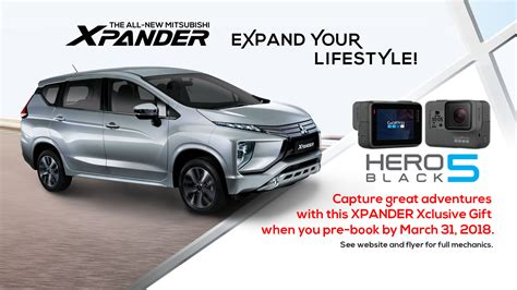 All New Mitsubishi Xpander get a gopro when you reserve for the all new mitsubishi