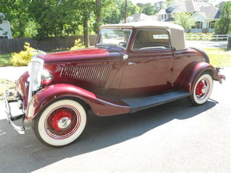 1934 Ford Cabriolet 1934 Ford Cabriolet Convertible Coupe Roadster For Sale