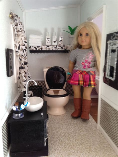 american girl doll bathroom 17 best images about american girl dollhouse bathroom diy