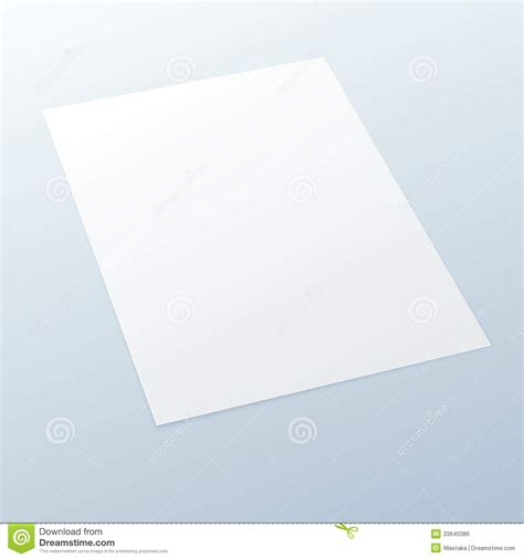 How To Make A Paper Lighter - blank empty a4 office paper on a light background stock