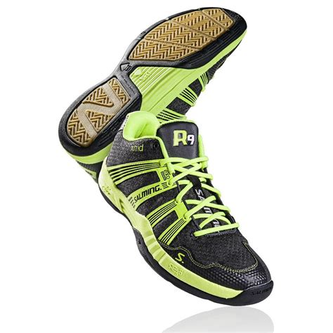 salming race r9 mid indoor sports shoes handball shoes