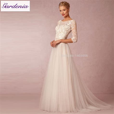 Flowing Wedding Dresses by Robe De Mariage 2015 Vintage Bohemian Charm Sleeve