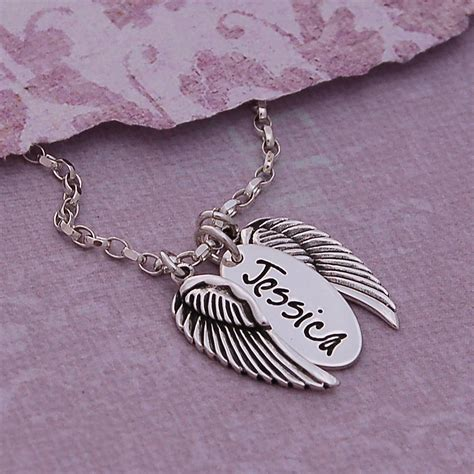 Handmade Name Necklace - handmade personalised silver name necklace with