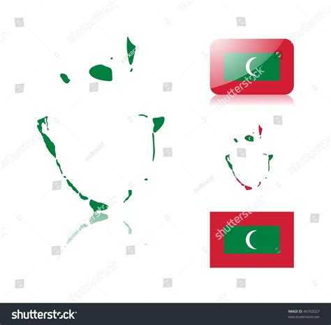 Maldives Address Search Maldives Map Including Map With Reflection Map In Flag