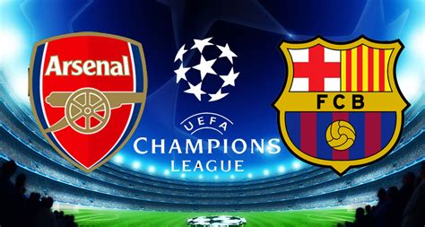 arsenal vs barcelona chions league round of 16 2nd leg arsenal v barcelona
