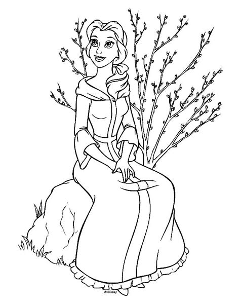belle coloring pages coloring pages to print