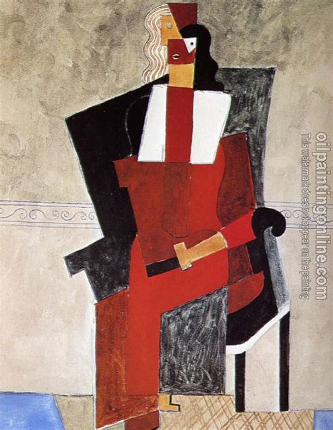 picasso woman in an armchair picasso pablo woman in an armchair canvas painting