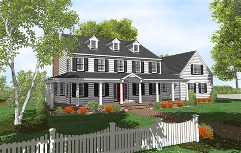 center colonial floor plans find house plans