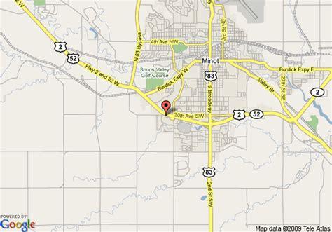 minot dakota map map of comfort inn minot minot