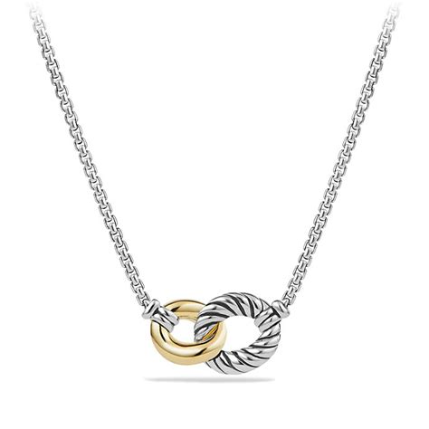 david yurman necklace with 18k gold in silver gold lyst