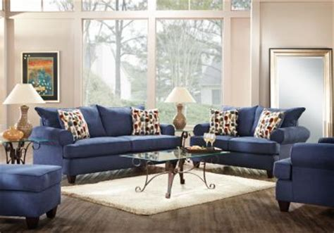 navy blue living room set affordable blue living room sets rooms to go furniture