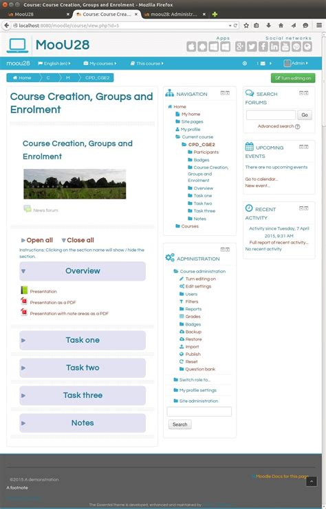 theme moodle essential moodle plugins directory essential
