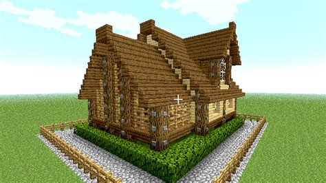 minecraft cool house tutorial minecraft house tutorial cool and easy wooden house in 15 minutes 18 youtube