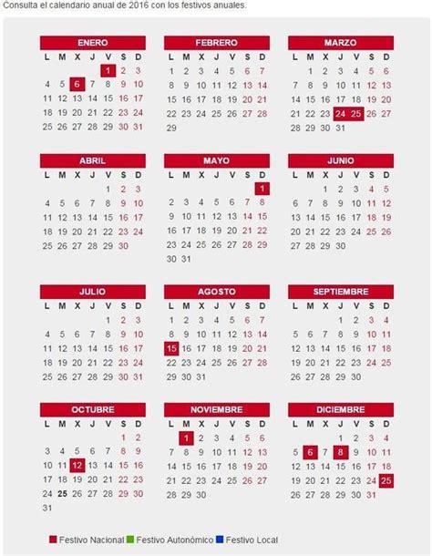 Calendario Laboral 2005 Calendario Laboral 2016 Puentes Festivos Y Laborales De