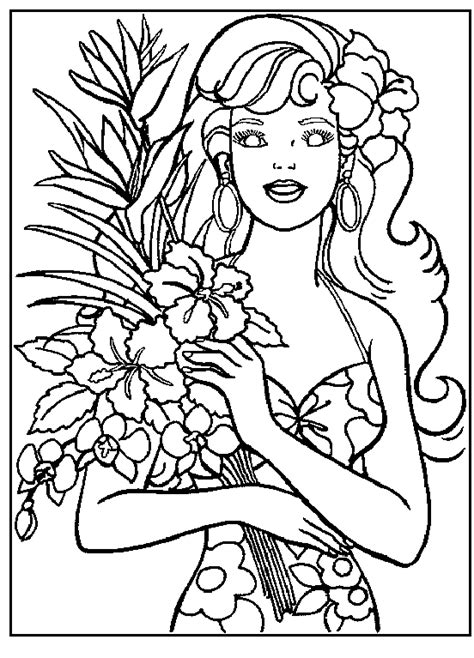 free coloring pages of barbie face