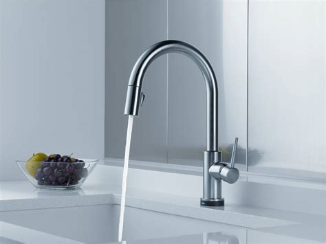 Delta Trinsic Kitchen Faucet The Trinsic Kitchen Faucet From Delta Is Just Begging To Be Touched Seriously Home Iq