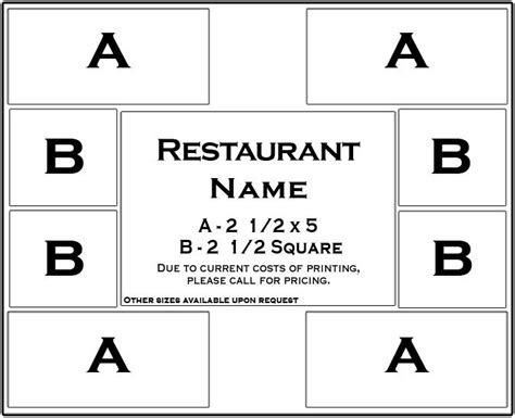 placemat template placemat advertising template images