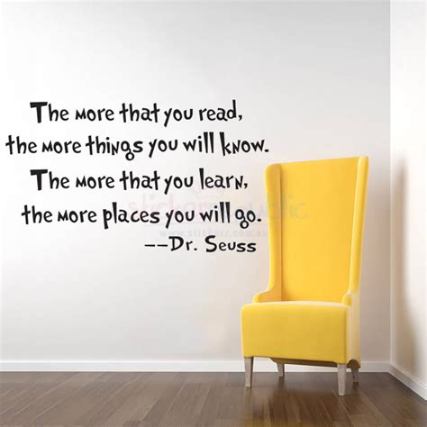 wall sticker quotes australia quotes the more that you read by dr seuss wall sticker