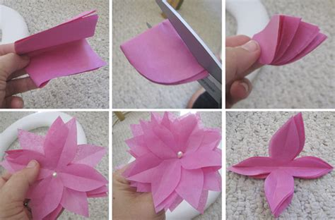 Tissue Paper Flowers Step By Step - diy paper flower wreath 183 ruffled