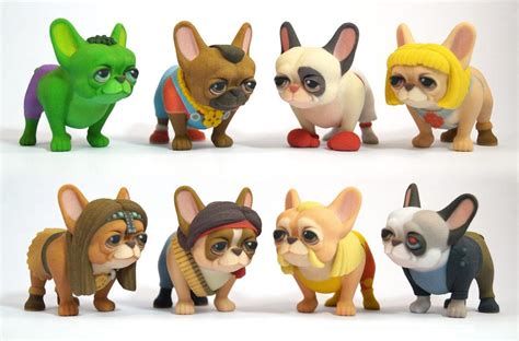 French Bulldog Giveaway - 3d printed cosplaying french bulldogs are un leashed into the raw legends
