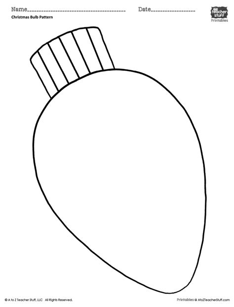 christmas light bulb outline bulb coloring pattern or coloring sheet a to z stuff printable pages and