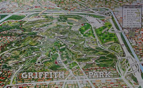 griffith park map griffith park map view large you can get a poster size