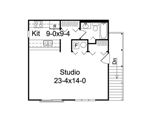 Garage Studio Apartment Plans by Studio Apartment Garage Plan 002d 7525 House