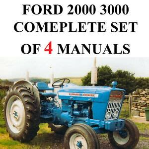Ford 2000 3000 Series Tractor Service Parts Catalog Owners