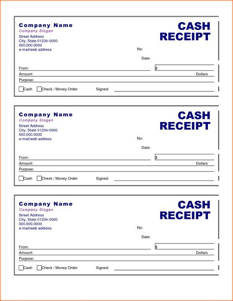 receipts templates sle receipt template website resume cover letter
