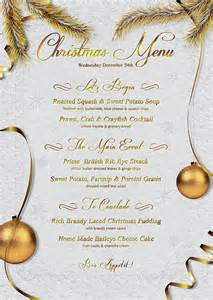 christmas menu template that s design store